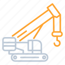 building, construction, crane, industy, transportation icon