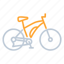 bicycle, bike, cycling, maountain, transportation icon