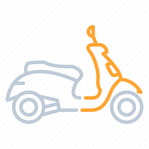 motorbike, motorcycle, scooter, transportation icon