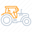 agriculture, farm, farming, garden, tractor, transportation icon