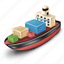 boat, cargo, ship icon