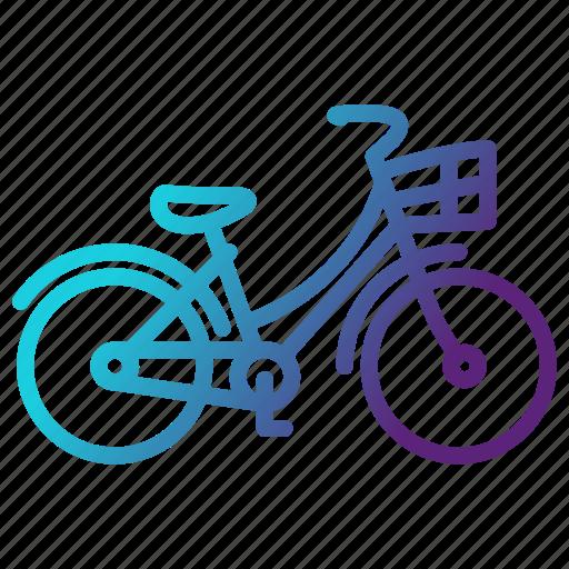 bicycle, bike, cycling, transportation, travel icon