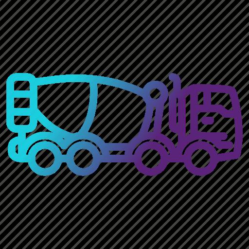 blender, cement, mixer, transportation icon