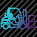 delivery, forklift, logistics, transportation, warehouse icon