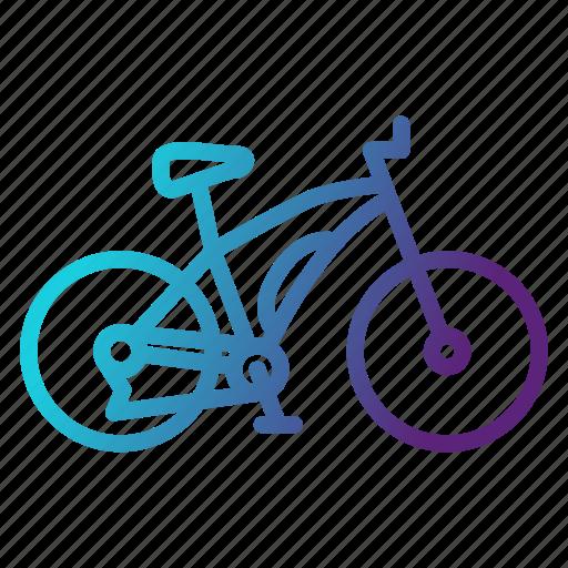 bicycle, bike, cycling, maountain, transportation icon