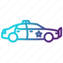 auto, car, police, transportation icon