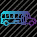 bus, education, school, transportation, university icon