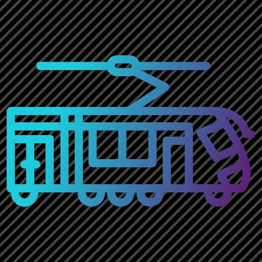 railway, subway, tramway, transportation icon