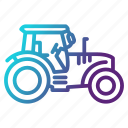 agriculture, farming, gardening, tractor, transportation icon