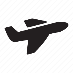 delivery, fly, plane, shipping, transportation, travel icon