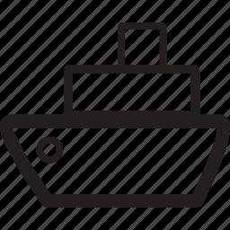boat, cruise, ocean, sea, ship, speed, transportation icon