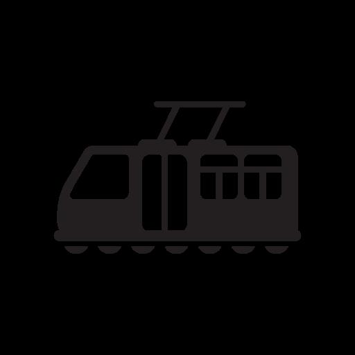 Bus, train, tram, tramway, transit, transport, transportation icon - Free download
