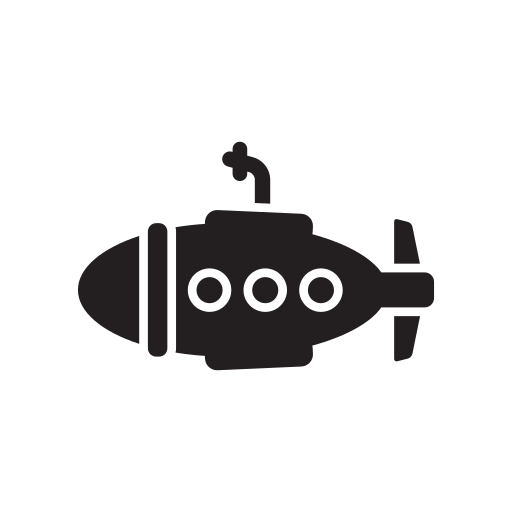 Ship, small, submarine, technology, transport, transportation icon