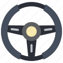 car, carparts, motor, steering, transportation, wheel icon