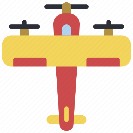 airoplane, fly, plane, sky, top, transportation icon