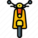 moped, motor, transportation, vehicle icon