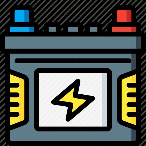 battery, car, carparts, motor, transportation, vehicle icon