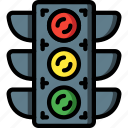 lights, motor, traffic, transportation, vehicle icon