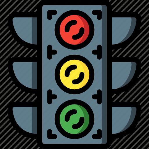 lights, motor, traffic, transportation, vehicle icon