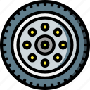car, carparts, motor, transportation, tyre, vehicle, wheel icon