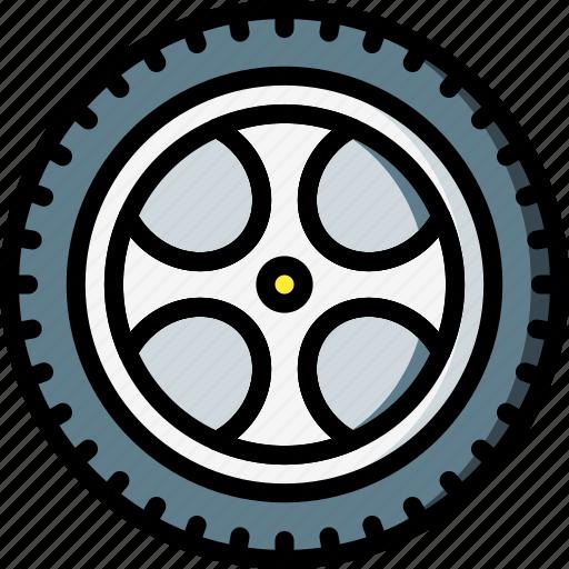 car, carparts, motor, transportation, tyre, vehicle, wheel icon