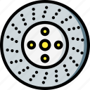 brake, car, carparts, disk, motor, transportation, vehicle icon