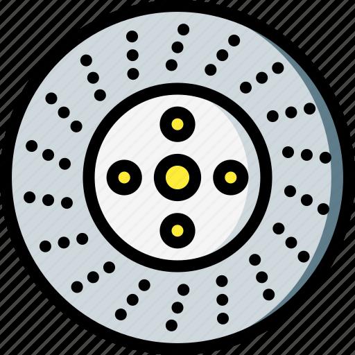brake, car, carparts, disk, motor, transportation, vehicle icon