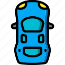 car, motor, top, transportation, vehicle icon