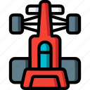 formula, motor, racing, top, transportation, vehicle icon