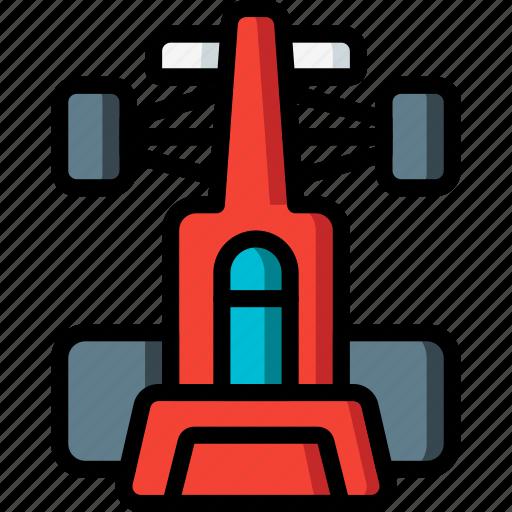 formula, motor, racing, top, transportation, vehicle icon