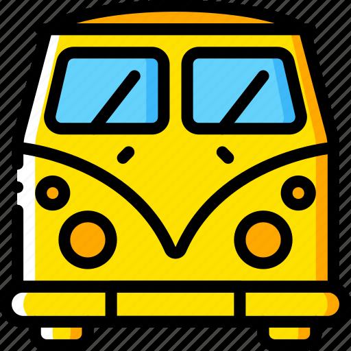 camper, car, motor, transportation, van, vehicle, vw icon