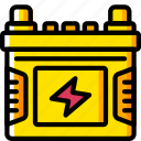 battery, car, carparts, motor, transportation, vehicle icon
