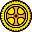 car, carparts, motor, transportation, tyres, vehicle, wheel icon