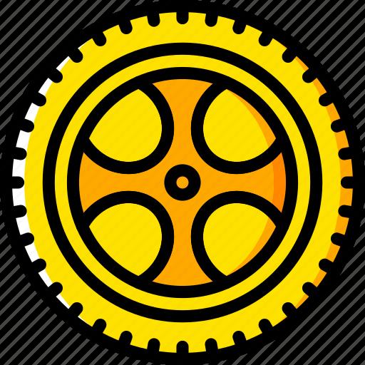 car, carparts, motor, transportation, tyres, vehicle, wheel icon