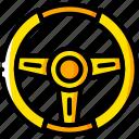 car, carparts, motor, steering, transportation, vehicle, wheel icon