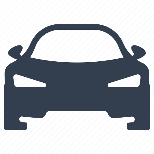 auto, automobile, front, racing, sedan, traffic, transportation, travel, vehicle icon