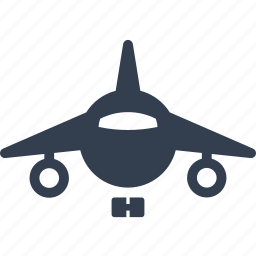 aerial, airplane, delivery, front, passengers, plane, public, transportation, travel icon