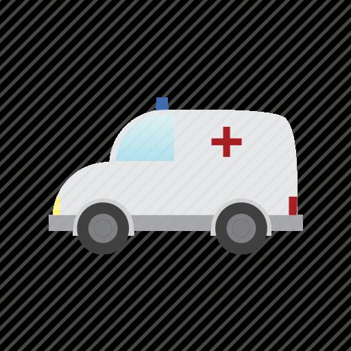 ambulance, auto, traffic, transport, transportation, vehicle icon