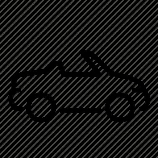 cabriolet, car, open-top, ragtop, travel, vacation, vehicle icon