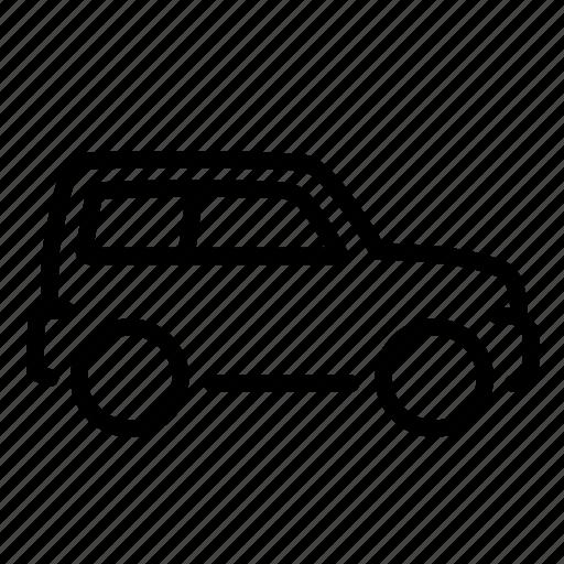 auto, car, suv, transportation, travel, van, vehicle icon