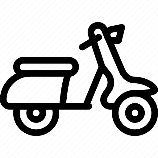 road, scooter, transport, transportation, vehicle icon