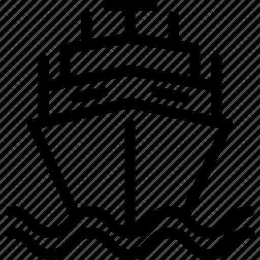 cargo, ship, shipping, transport, vehicle icon
