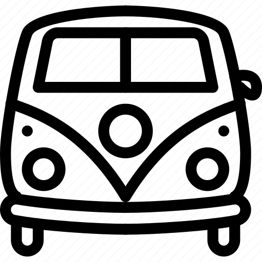 automobile, t1, transport, transportation, vw icon