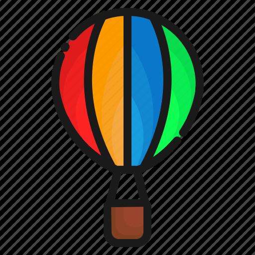 air ballon, transport, transportation icon