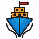 ship, transport, transportation icon
