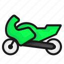 motorbike, motorcycle, transport, transportation icon