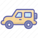 automobile, hatchback, jeep, luxury car, transport, vehicle icon
