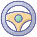 auto part, car accessory, car handle, spare part, steering wheel icon