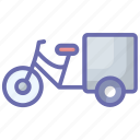 cycle rickshaw, local auto, public transport, three wheeler, tricycle icon