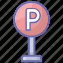 car garage, car parking, parking, parking garage, parking lot icon